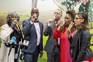 Sparkling juice toast. Photos by Bryan Docter/Cook County clerk's office