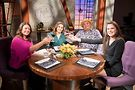 Alpana (second from left) with guests on season 18 of Check, Please!--photo courtesy of WTTW/Ken Carl