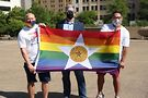 Displaying Dallas' Pride flag. Image from city's Facebook page