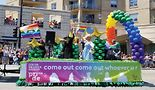 "2018, Center on Halsted float.It's always fun and exciting to see all the colorful floats at the Pride parade! As the float says, ""Come out, come out, whoever you are"" and join the fun!Linda ""Kizzy"" Ramos"