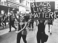 {she crew} at at 2016 Black Lives Matter march. Photo by Jess London-Shields