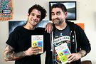 Tyler Posey and author Mike Henneberger. Photo by Justin Baker