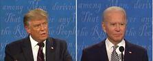 President Donald Trump and Vice President Joe Biden. Screen shot