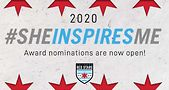 #SHEINSPIRESME Award nominations are open. Logo courtesy of the Chicago Red Stars