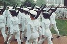USNA_Marching: Midshipman marching to a parade. Photo by Clyde Villemez.